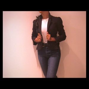 A/X Armani Exchange black cropped blazer XS